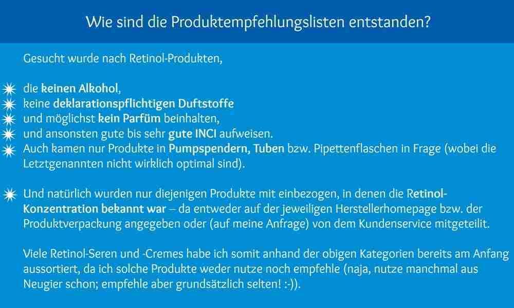 Retinol Produkte Empfehlungen