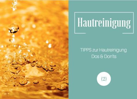 Tipps zur Hautreinigung
