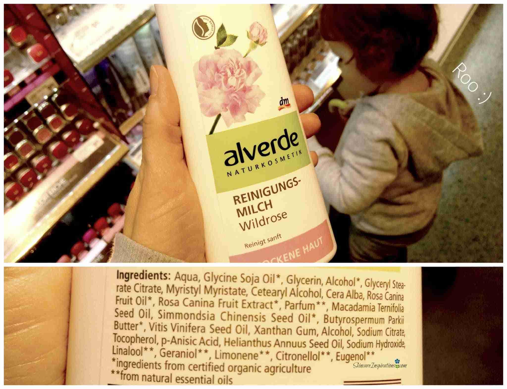 Alverde Reinigungsmilch Wildrose Drogeriepflegeprodukte
