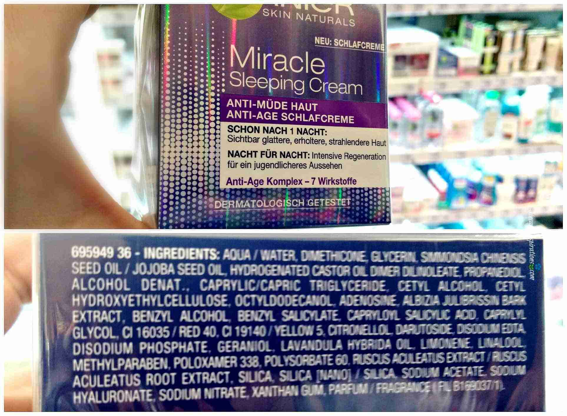 Garnier Miracle Sleeping Cream Drogeriepflegeprodukte