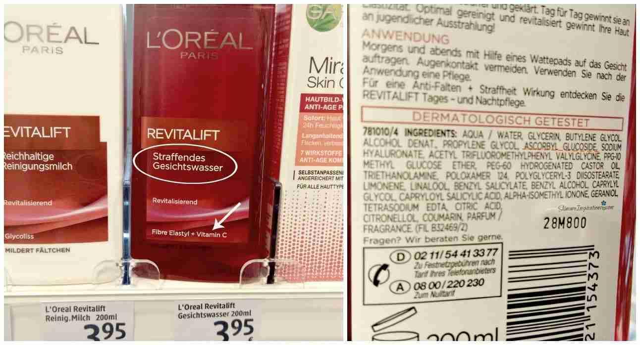 LOreal RevitaLift Straffendes Gesichtswasser Drogeriepflegeprodukte