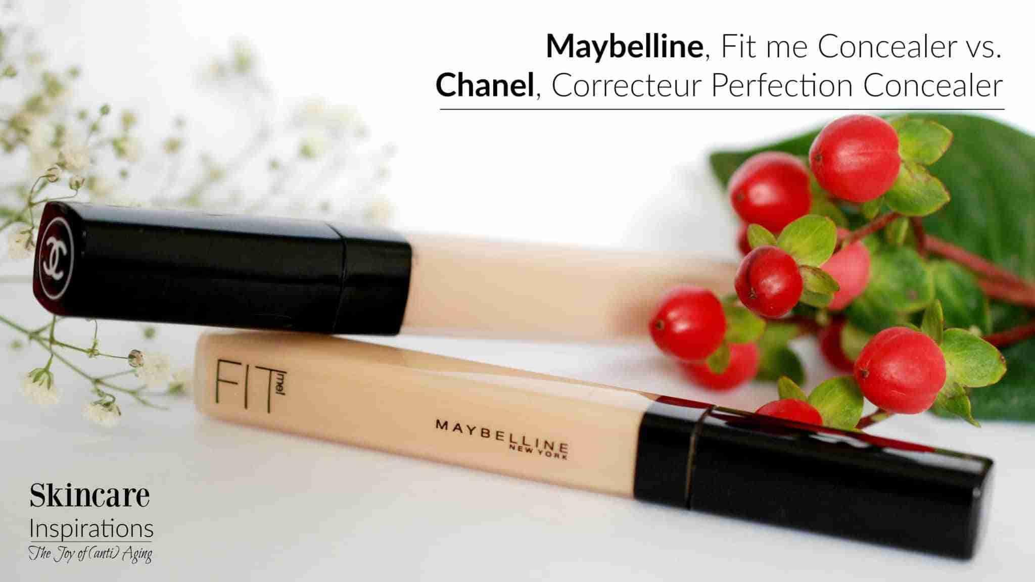 Maybelline Fit me Concealer versus Chanel Correcteur Perfection Concealer