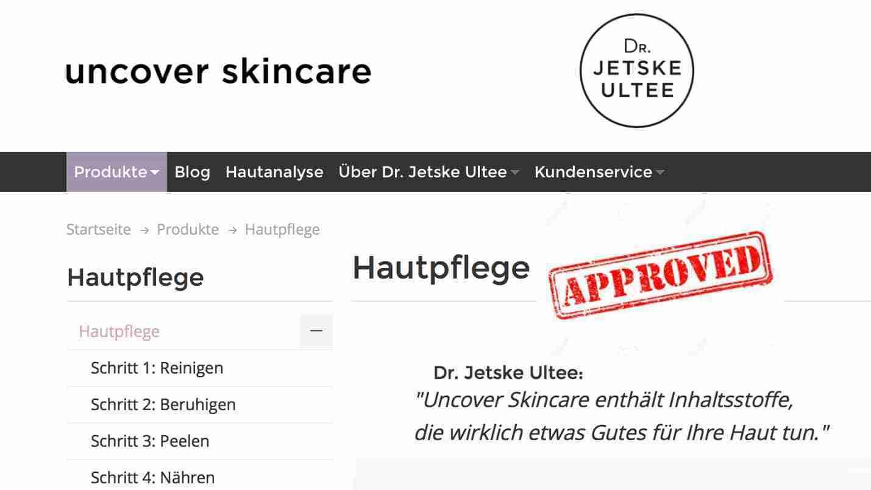 uncover skincare dr. jetske ultee