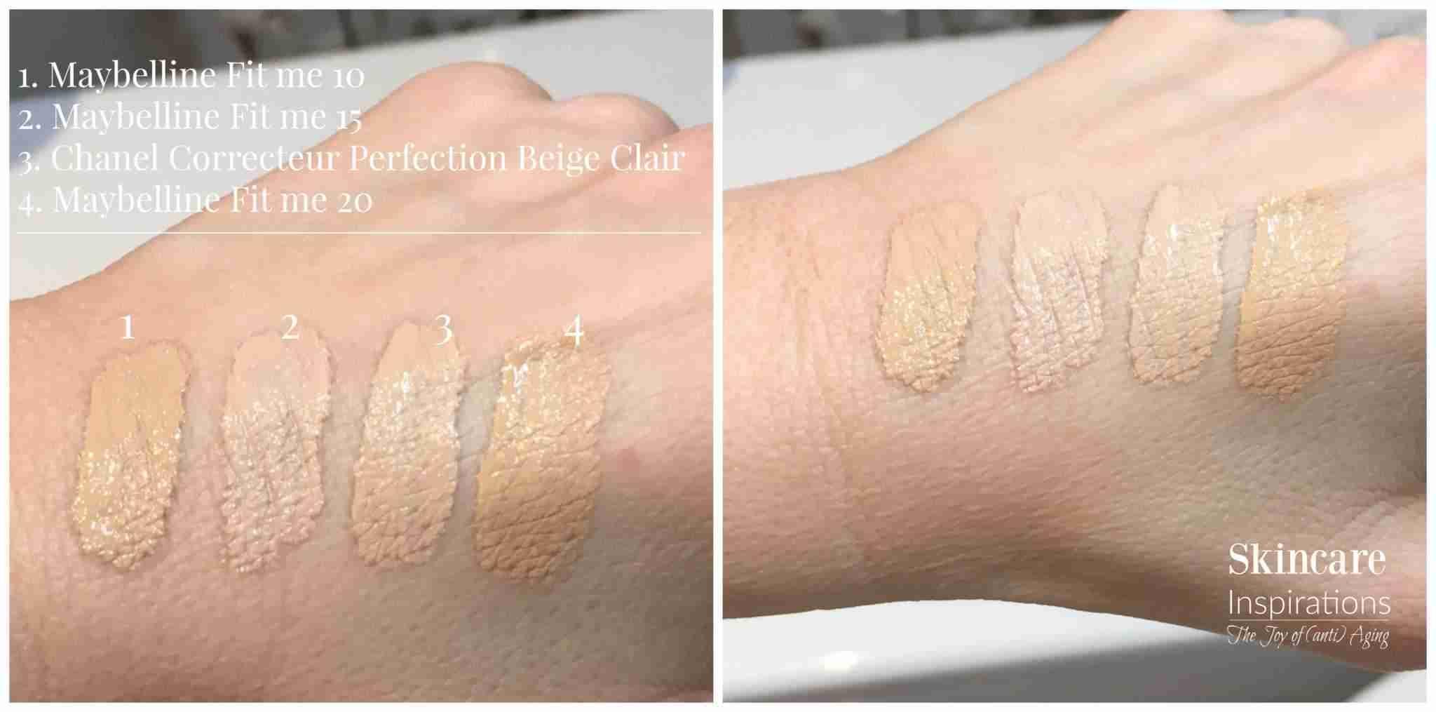 Maybelline Fit Me Concealer Vs Chanel Correcteur Perfection Swatches Versus
