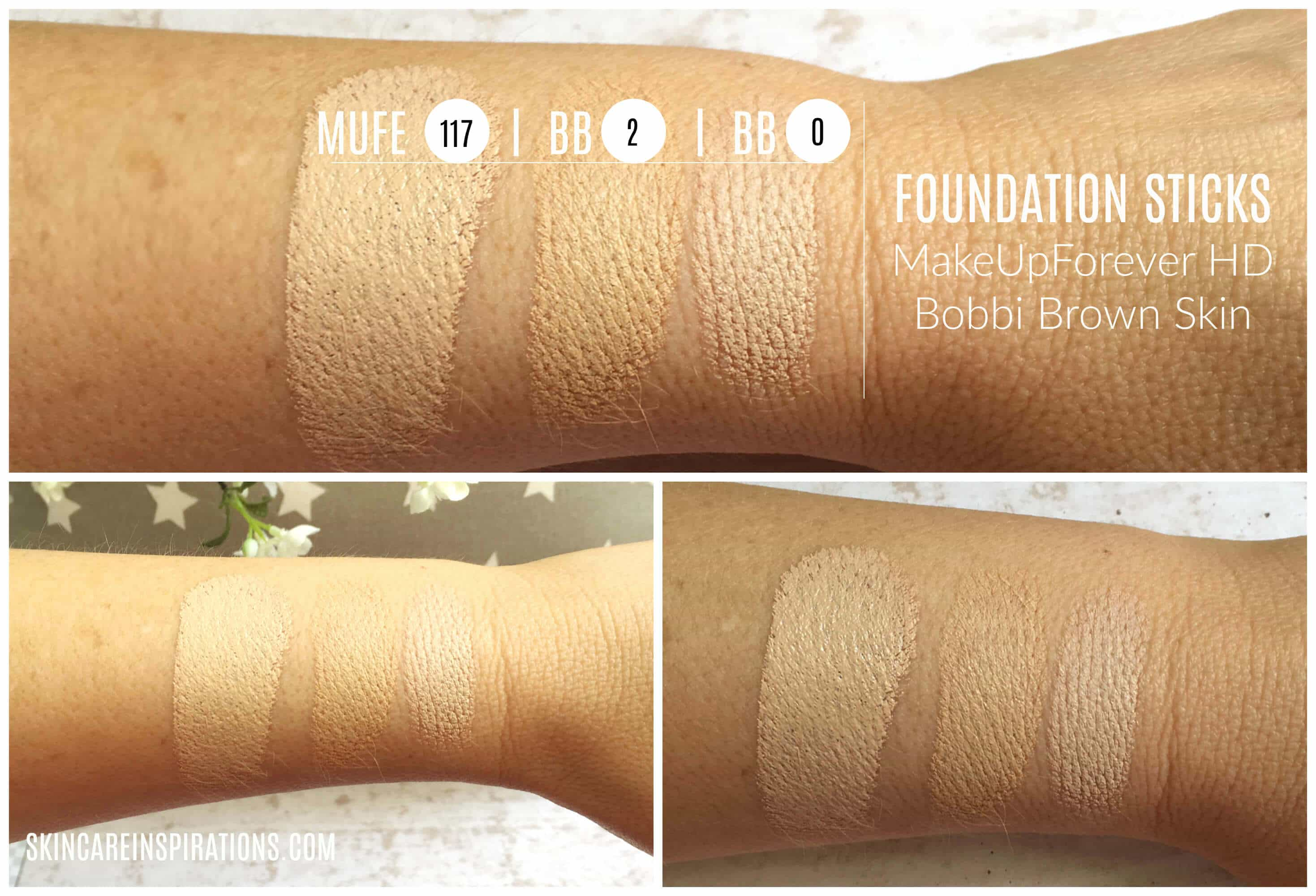 Foundation Stick Comparison BB MUFE (1)