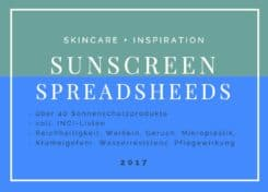 Sunscreen Spreadsheets
