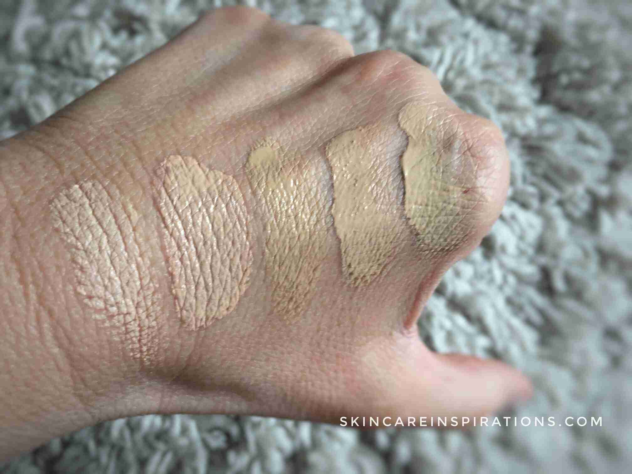 DIOR FOREVER SKIN GLOW FOUNDATION Swaches