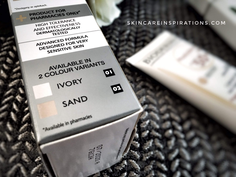 Sonnencreme und Makeup Foundation Pharaceris 3 swatches ivory