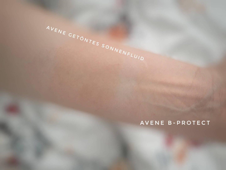 Test Sonnencremes von Avene im Vergleich Swaches B Protect Sonnenfluid