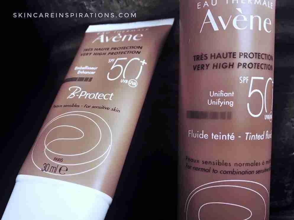 Test Sonnencremes von Avene im Vergleich getöntes Sonnenfluid B Protect