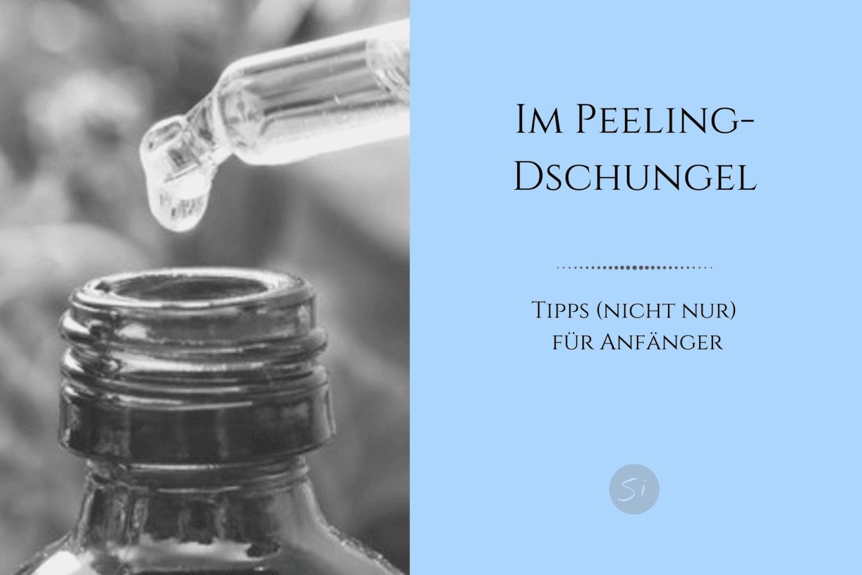 richtige Anwendung von chemischem Peeling,