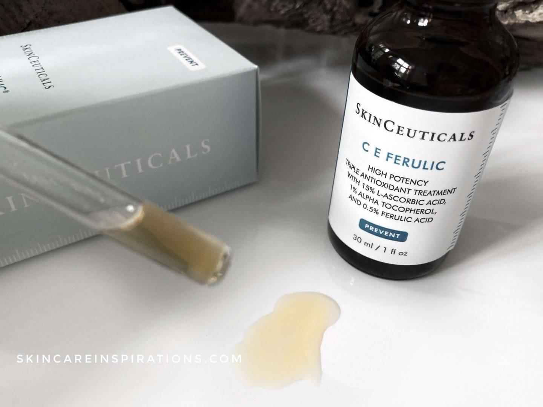 SkinCeuticals CE Ferulic Serum Erfahrung Farbe