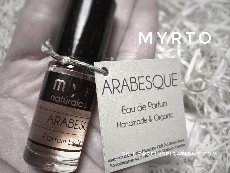empfehlenswerte Naturkosmetik Myrto Parfüm Arabesque