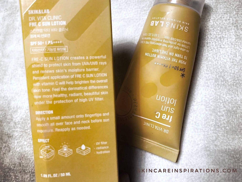 Skin&Lab Fre C Lotion SPF50+ Beschreibung
