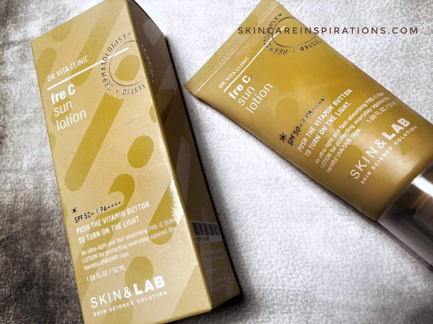 Skin&Lab Fre C Lotion SPF50+ Erfahung