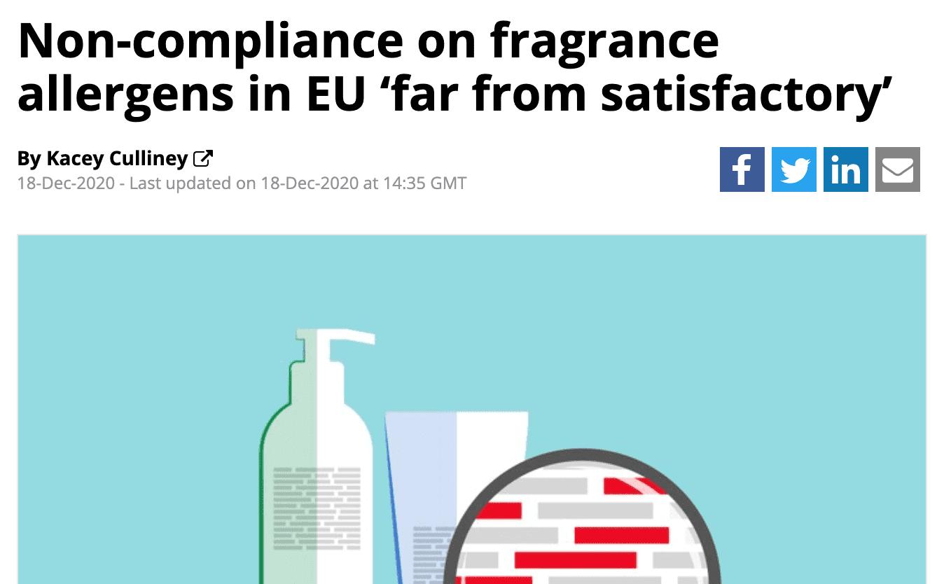 Allergene Duftstoffe deklarationspflichtig