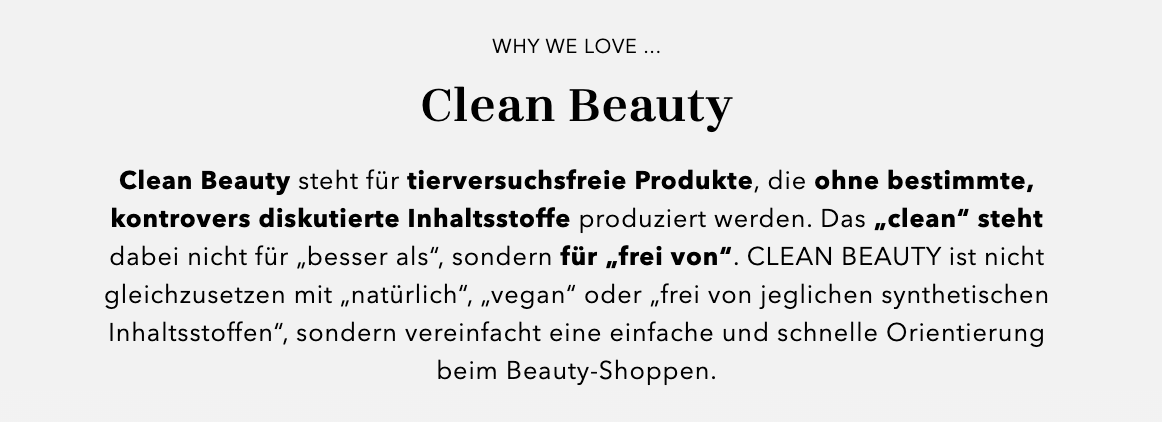 Clean Beauty bei Douglas